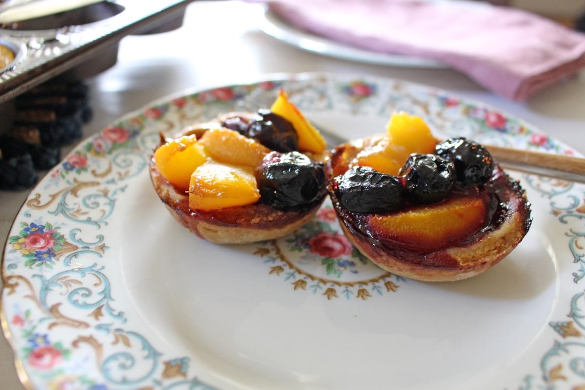 peach cherry tart cups 8